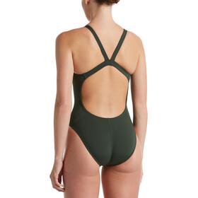 Nike Swim Hydrastrong Solids Traje Baño Una Pieza Fastback Mujer, verde